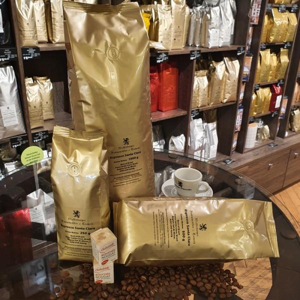 Espresso Santa Clara, ganze Bohne - verpackt
