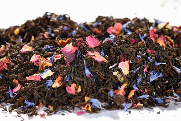 Rosengarten Tropenfrucht Schwarzer Tee lose