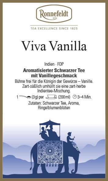 Schwarzer Tee Viva Vanilla Indien FOP