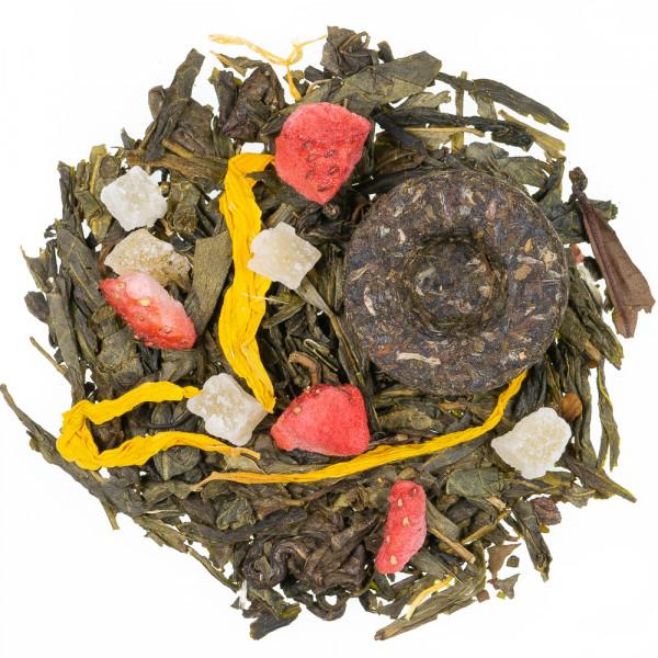 Die acht Schätze des Shaolin Grüner Tee lose
