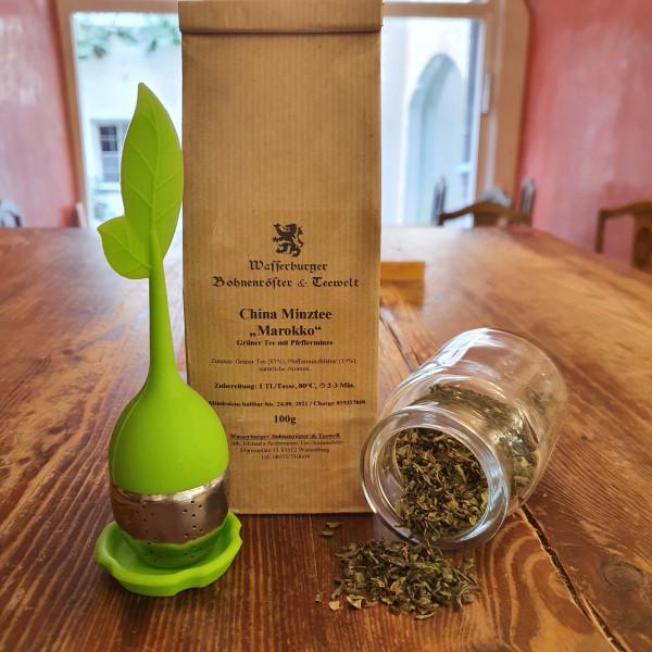 Grüner Tee Minztee Marokko verpackt