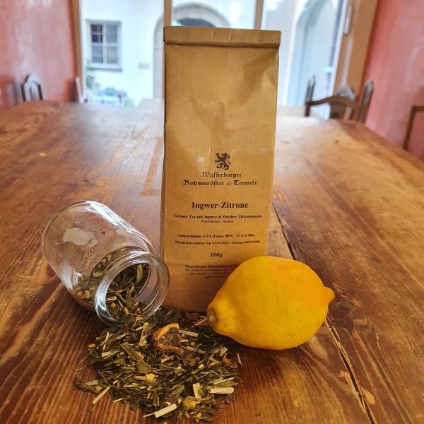 Sencha - Ingwer Zitrone - natürliches Aroma